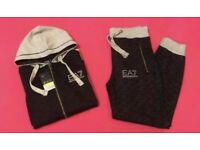 Black & LT Grey Full Jogging Tracksuit Brand New