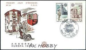 Andorra Fra 1979 FDC 297-98 Europa Cept Mountains Post Postamt Hund Dog - Dabrowa, Polska - Andorra Fra 1979 FDC 297-98 Europa Cept Mountains Post Postamt Hund Dog - Dabrowa, Polska