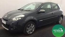 ONLY £112.71 PER MONTH BLACK 2012 RENAULT CLIO 1.2 DYNAMIQUE TOMTOM 3 DOOR