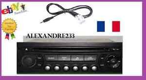 cable auxiliaire aux adaptateur mp3 pour autoradio peugeot 207 12pin rd4 pro ebay. Black Bedroom Furniture Sets. Home Design Ideas