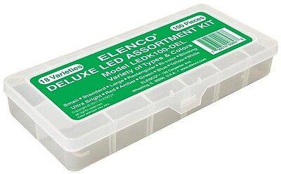 Elenco Ledk-100del 100 Pc Led Component Kit In Plastic Case