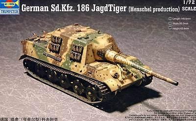 Trumpeter German Sd.kfz.186 Jagdtiger Henschel Tank Panzer Modell-Bausatz - 1:72