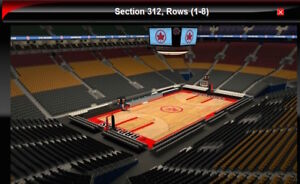 76ers vs Raptors Section 312 Row 2 & 6 Seats Section 318 Row 6