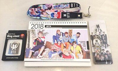 Bts Bangtan Boys 2018  2019 Photo Calendar  Metal Key Chain  Lanyard  Ring Stent