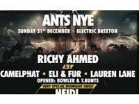 6 NYE ANTS TICKETS FOR SALE!