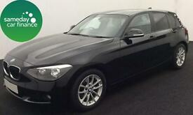 £180.16 PER MONTH BLACK 2013 BMW 116D 1.6 EFFICIENT DYNAMICS 5 DR DIESEL MANUAL