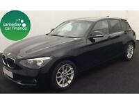 £218.85 PER MONTH BLACK 2013 BMW 116D 1.6 EFFICIENT DYNAMICS 5 DR DIESEL MANUAL