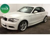 £228.52 PER MONTH WHITE 2009 BMW 125 3.0 M SPORT COUPE PETROL MANUAL