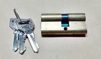 Fiam cilindro sagomato in ottone mm.60 con 3 chiavi