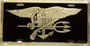 Aluminum-Military-License-Plate-Navy-SEAL-NEW-Made-in-the-USA-NO-TEXT