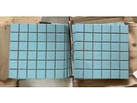 Light Blue mosaic bathroom kitchen tiles 2 square meters light blue 16 sheets