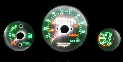 Peugeot speedfight 1&2 led dash clock conversion kit lightenUPgrade