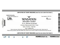 2 SENSATION White Golden tickets Prague