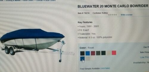 1991-01 Bluewater 20 Monte Carlo Bowrider I/O royal blue <WC1> 0722