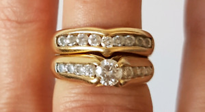 14 kt wedding set