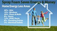 lower you monthly heating costs spray foam attic top ups
