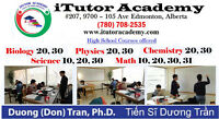 Tutor Math Chemistry Biology Physics Science
