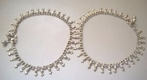 Brand New Silver Tone Pair of Anklets/ Paya Jingle