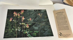 Robert Bateman Ruby-Throat and Columbine s/n