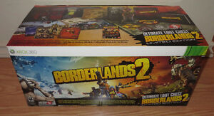 NEW X-Box 360 Borderlands 2 Ultimate Collectors Loot Chest &Game