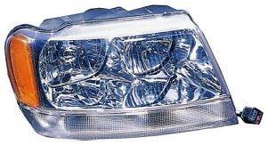 JEEP 1999 2000 01 02 03 04 GRAND CHEROKEE LIMITED HEADLIGHT RIGHT VISION
