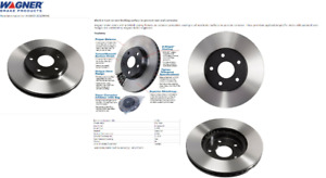 A pair of BNIB premium Front Wagner BD125674E E-Coated Rotors