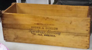 Antique Wooden Box: Brown and Bigelow