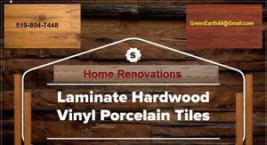Flooring - Laminate Hardwood Vinyl Porcelain Tiles Cambridge Kitchener Area image 1