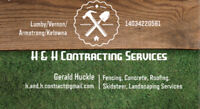 Skidstear, fencing and concrete services available.