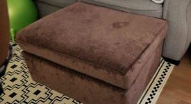 Ottoman storage footstool brown