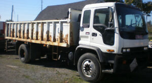 2000 GMC Diesel Flatbed Cabover Truck, 20 feet