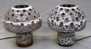 2 lampes vintage Maurice Chalvignac Mid-Century Modern Lamps