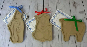 Three new Brown Bag Cookie molds pig rabbit cow