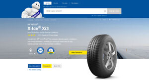 "4 Michelin Ice Xi3 18"" tires (225/45R18/XL 95H) (driven 300KM)"