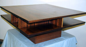 Mid Century Modern Rosewood & Teak Coffee Table SEE VIDEO