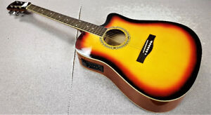 Pyle Sunburst Acoustic Electric Guitar Set