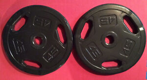 """A pair of Olympic 2"""" plates 45 lbs (90 lbs total)"""