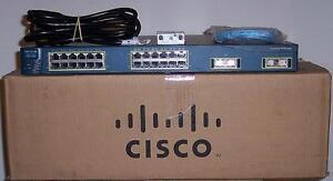 Cisco Catalyst WS-C3550-24-SMI w EMI 3550 CCNP CCIE  Layer 3 Switch 5xAvail