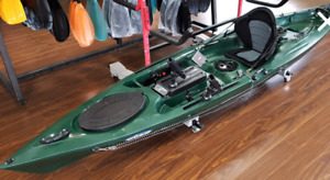 Fishing Kayak with Rudder Steering.  free paddle & delivery