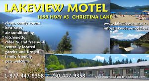 Motel in Beautiful BC Resort Town of Christina Lake For Sale