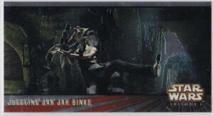 STAR WARS TOPPS EPISODE 1 # 1 WIDEVISION C5 JAR JAR BINKS