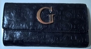 Guess Ladies Leather Clutch Purse/ Wallet Black