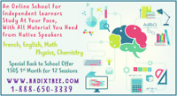 Affordable Online Tutoring of Math and French available at home