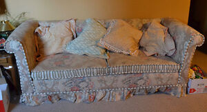 Sofa, great for guests as it's about the size of a twin bed