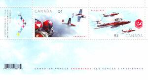 Canada Stamps -  Canadian Forces Snowbirds 51c Souvenir Sheet (2 West Island Greater Montréal image 1