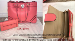 Guess handbag & wallet