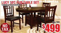 Lucy 5pc Storage Pub Table Set, $499 Tax Included!