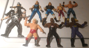 LOT OF 9 WCW FIGURES WRESTLERS SUPERSTSARS WWF WWE ECW TNA NWO