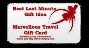 Last Minute Gift Idea - Travel Marvellous Your Way