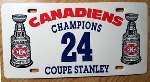 PLAQUE MONTREAL CANADIENS 24 COUPE STANLEY 1916 - 1993